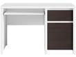 """Bureau """" Kaspian """" - 120 x 65 x 77 cm - Blanc / Wengé"""