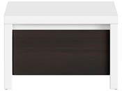 "Chevet "" Kaspian "" - 51 x 40.5 x 33.5 cm - Blanc  / Wengé"