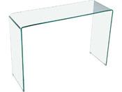 """Console """"San Remo"""" - 110 x 35 x 75 cm - Verre courbé transparent"""