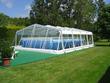 "Abri de piscine ""Amazone"" habitable et repliable - 5 x 8 m"