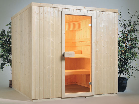 Sauna standard droit 4 places 208 x 208x200 cm 12907 for Domo matelas