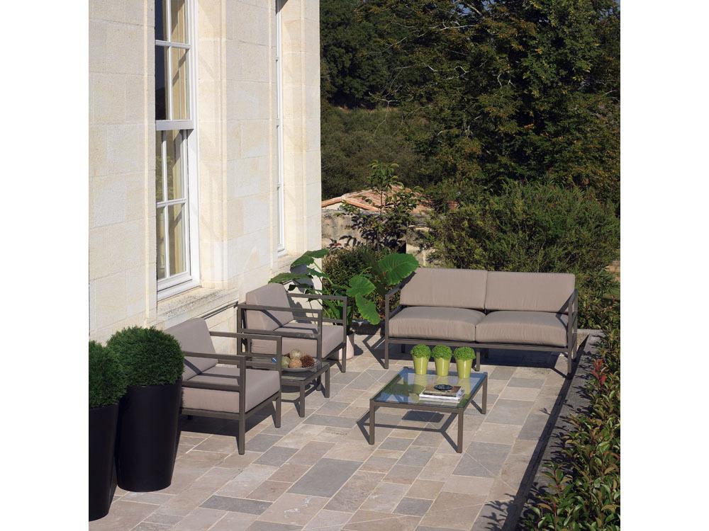 salon de jardin manhattan 2 fauteuils 1 canap 1 table 40198. Black Bedroom Furniture Sets. Home Design Ideas