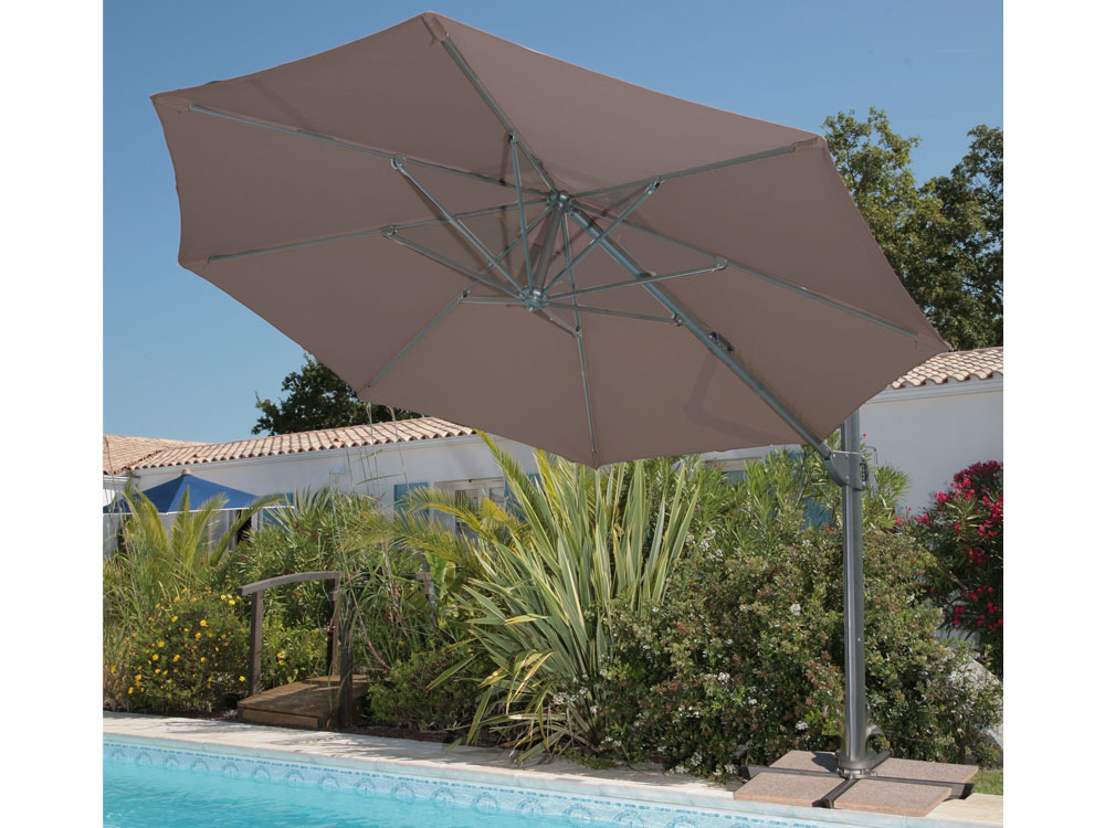 parasol jardin d port 350 aluminium m 39406 39409. Black Bedroom Furniture Sets. Home Design Ideas