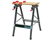 Etabli pliant bois-m�tal WB 100 - Compartiment range-outils