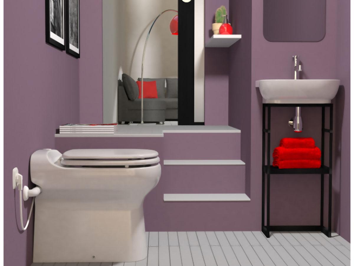 toilette sanibroyeur sanicompact elite sfa 7228. Black Bedroom Furniture Sets. Home Design Ideas