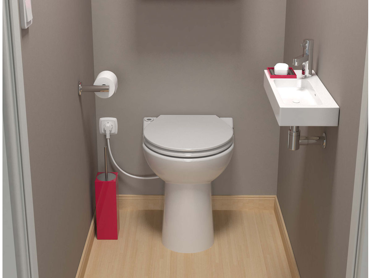 Sanicompact 43 silence eco sfa 7229 - Toilette sous escalier ...