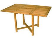 """Table de jardin """"Pise"""" - dimensions : 90/140 x 90 x 74 cm"""