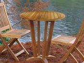 "Table de jardin ""Pont de bateau"" - diamètre : 70 cm"