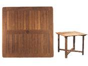 Table de jardin carrée à pieds exterieurs - dimensions : 80 x 80 x 74 cm