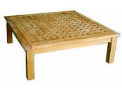 "Table de jardin - ""Tatami"" - dimensions : 102 x 102 x 35 cm"