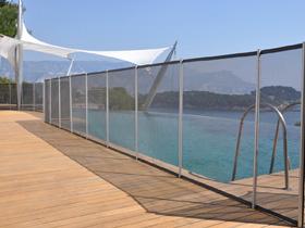 Barri re souple filet pour piscine beethoven 10424 10442 - Taille standard piscine ...