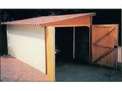 Garage bois - 15.50 m² - 5.00 x 3.10 x 2.50 m - 12 mm