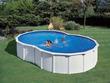 """Kit piscine acier en huit """"Varadero"""" blanche - 7.10 x 4.75 x 1.20 m"""