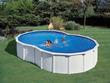 """Kit piscine acier en huit """"Varadero"""" blanche - 6.40 x 3.90 x 1.20 m"""