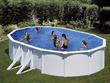 """Kit piscine acier ovale """"Atlantis"""" blanche - 6.1 x 3.75 x 1.32 m"""