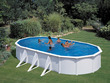 """Kit piscine acier ovale """"Atlantis"""" blanche - 7.30 x 3.75 x 1.32 m"""