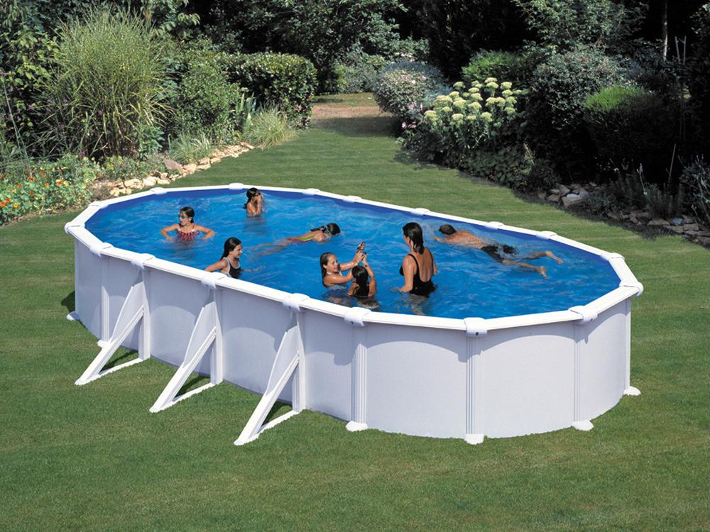 Kit piscine acier ovale fidji x x m 17128 for Changer margelle piscine