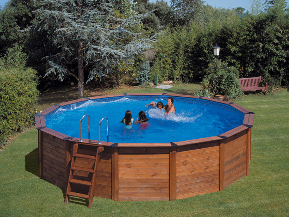 Piscine Habillage Bois En Kit Ronde Natur Pool X