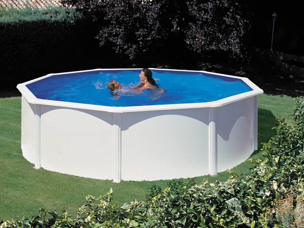 Kit piscine acier ronde fidji x m 80097 for Kit piscine acier
