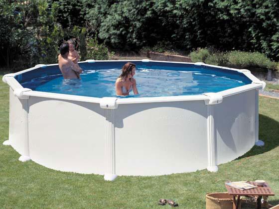 Kit piscine acier ronde atlantis x m 17035 for Piscine bois 2x3