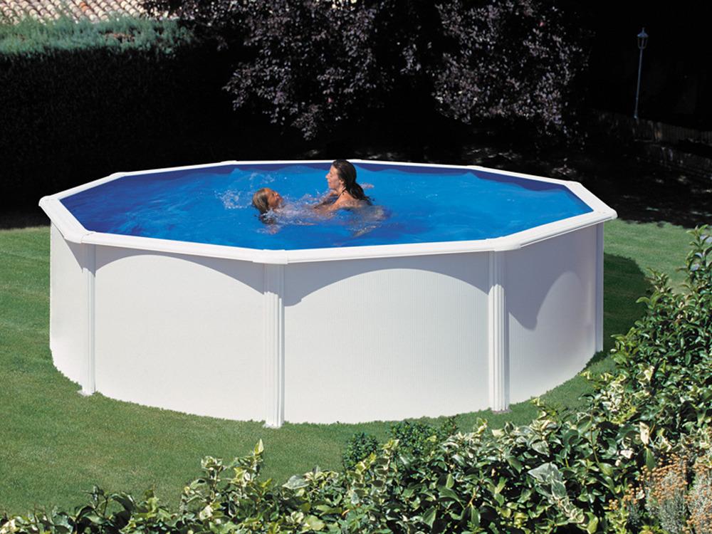 Kit piscine acier ronde fidji x m 80098 for Piscine acier octogonale
