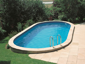 "Kit piscine enterrée ovale ""Sumatra"" - 6.10 x 3.75 x 1.20 m"