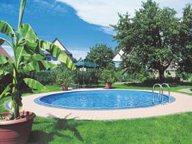 "Kit piscine enterrée ronde ""Sumatra"" - Ø 3.50 x 1.20 m"