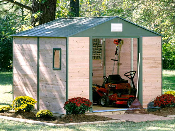 Abri jardin bois c dre m x x m 12 mm 13702 13705 - Abri de jardin quebec ...