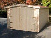 "Garage bois "" Epervier ""- 22.20 m² - 3.70 x 6.00 x 2.36 m - 34mm"