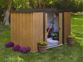 Grand abri de jardin métal aspect bois
