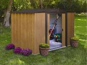 "Grand abri de jardin métal aspect bois ""BM 1012""  - 11.60 m² - 3.13 x 3.70 x 1.85 m"