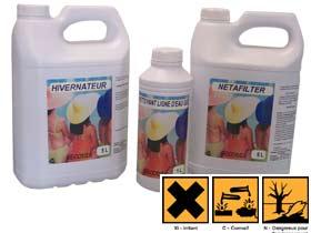 Kit d'entretien hiver - Comprenant 1 hivernateur 5L, 1 détartrant 5L et un nettoyant gel ligne d'eau