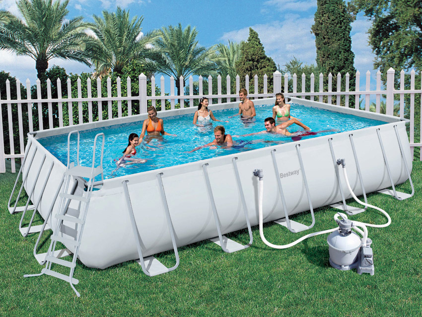 Piscine tubulaire rectangulaire x x 55167 for Piscine autoportee pas cher