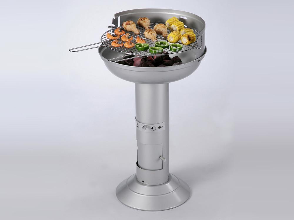 Barbecue charbon de bois cook grille diam tre 48 cm 61696 - Grille de barbecue ronde ...