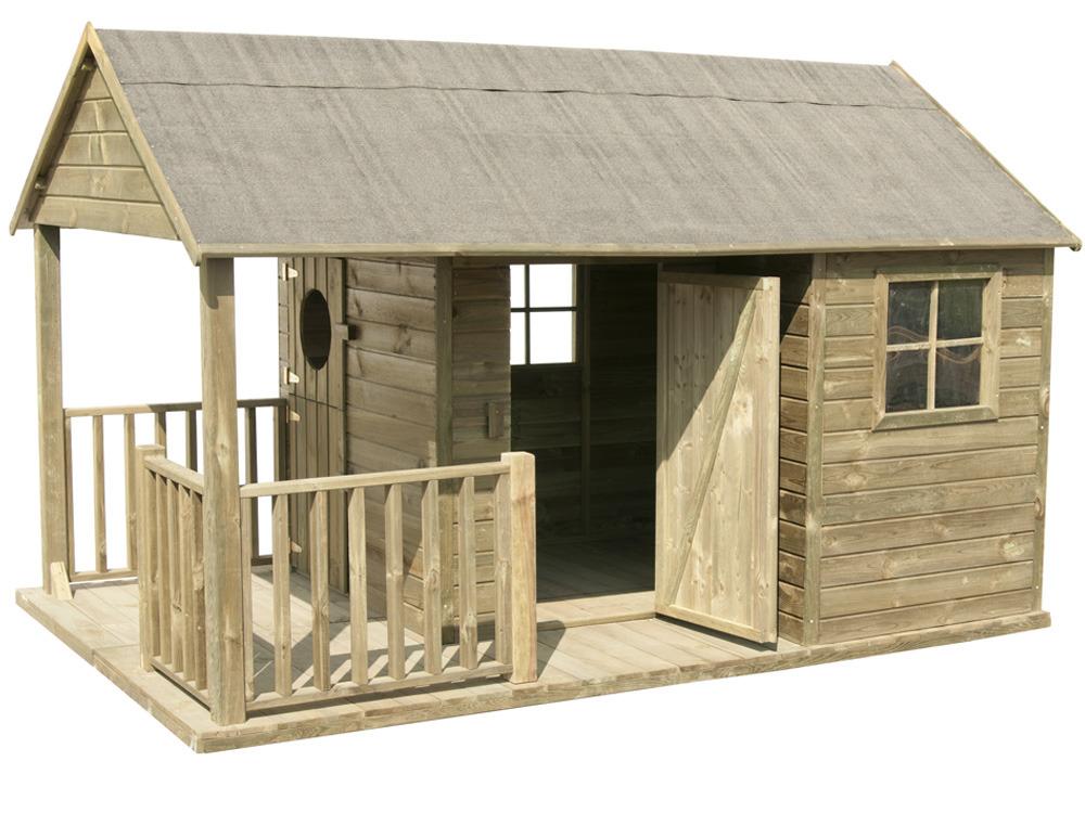 Maisonnette enfant manon 58647 - Plan maisonnette en bois gratuit ...