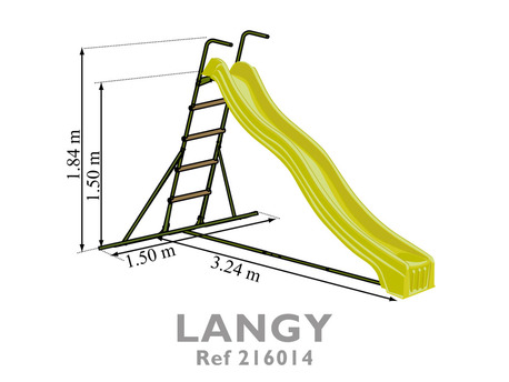 toboggan double vague langy x x m 3 m 23614. Black Bedroom Furniture Sets. Home Design Ideas