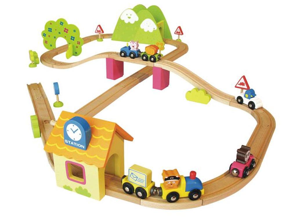 Jeux enfant Train bois jolie ville   55 pièces 37463 ~ Train En Bois Enfant