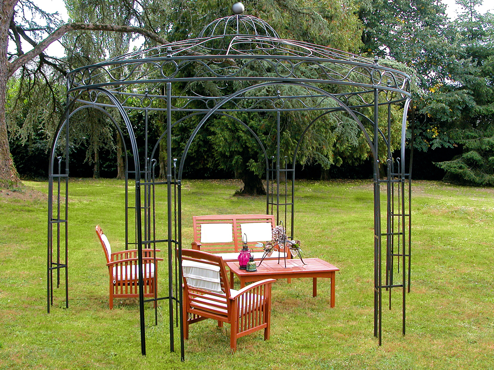kiosque de jardin metallique. Black Bedroom Furniture Sets. Home Design Ideas