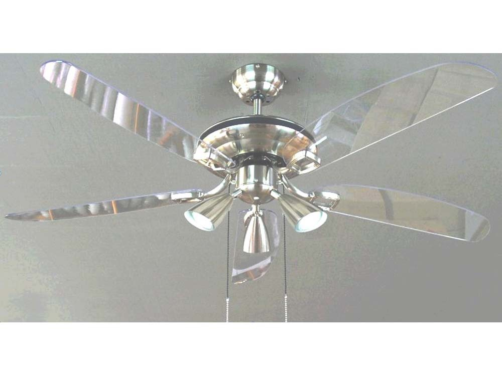 Ventilateur De Plafond Nuage 132 Cm Coloris Chrome Bross 52597