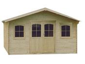 Abri jardin bois  - 22.44 m² - 5.17 x 4.34 x 2.77 m - 34 mm
