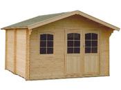 Abri jardin bois  - 17.49 m² - 4.03 x 4.34 x 2.66 m - 44 mm