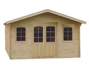 Abri jardin bois  - 22.44 m² - 5.17 x 4.34 x 2.88 m - 44 mm