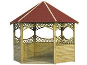 Kiosque bois - 3.4 m de diamètre - 3 m de hauteur