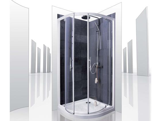 Porte de douche coulissante amsterdam 120 x 183 cm 51322 - Paroi de douche quart de rond ...