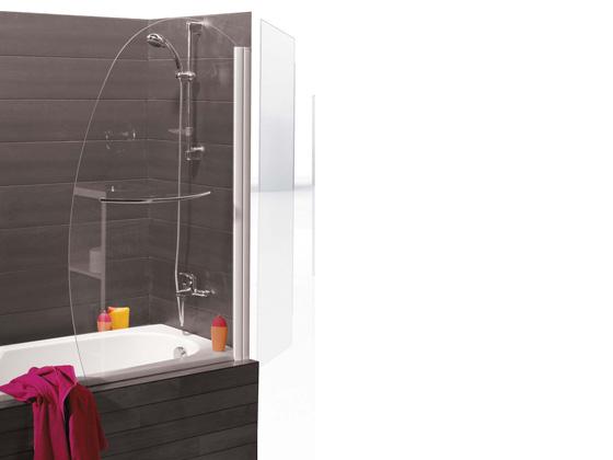 pare baignoire nassau 1 volet en forme de voile. Black Bedroom Furniture Sets. Home Design Ideas