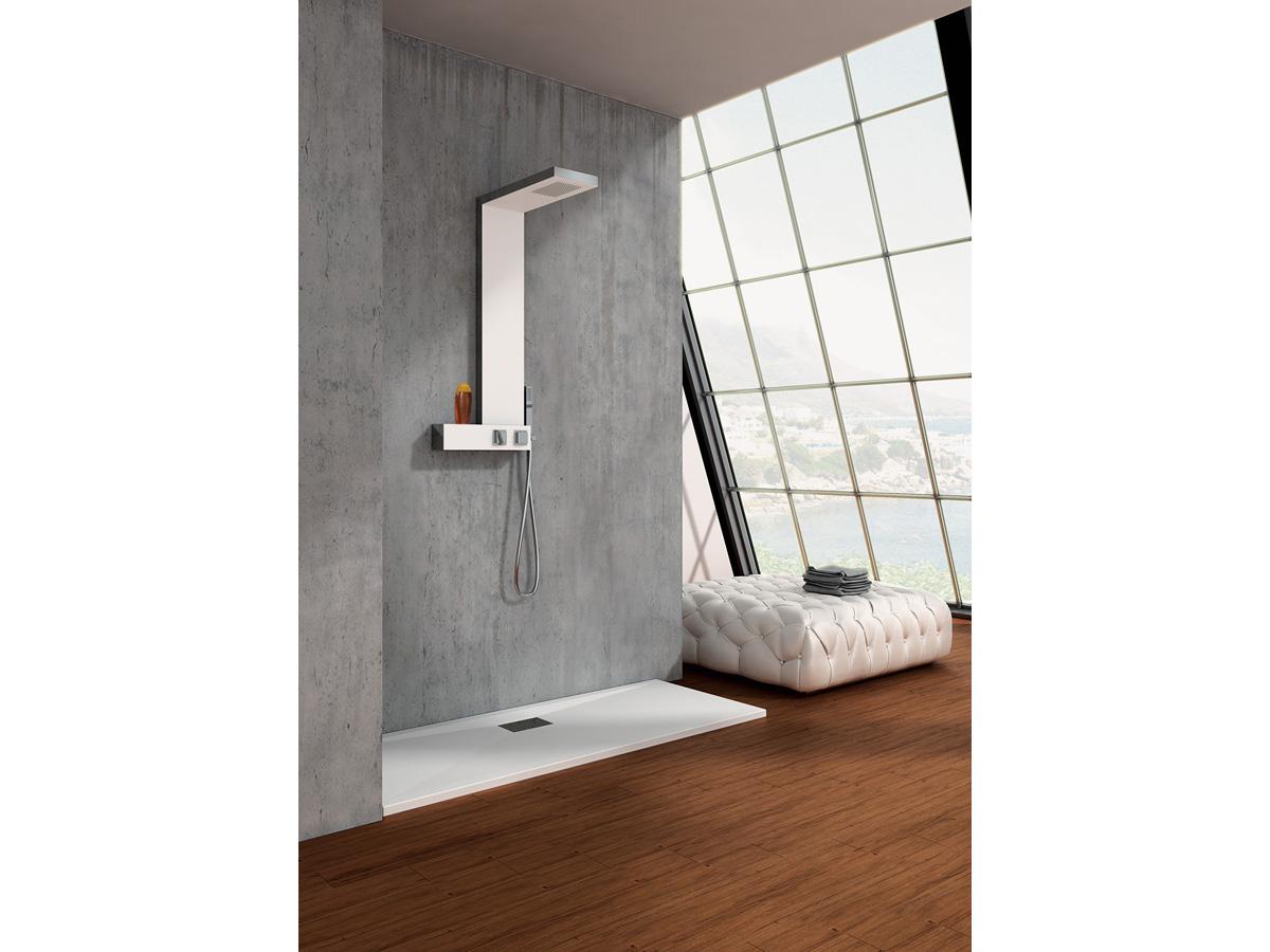Colonne de douche inox Aquadesign - 105,5 x 20 cm