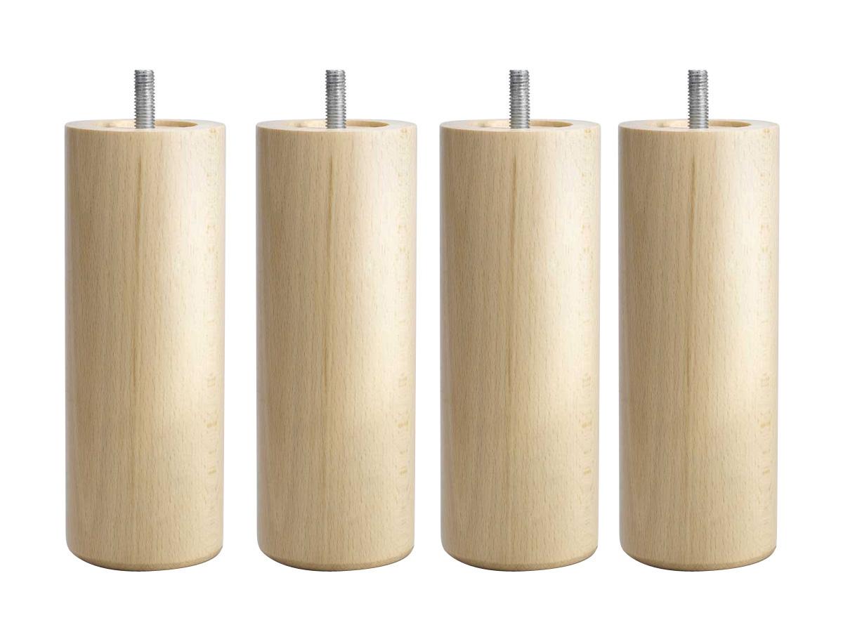 pieds pour sommier tapissier h 17 cm lot de 4 80095. Black Bedroom Furniture Sets. Home Design Ideas