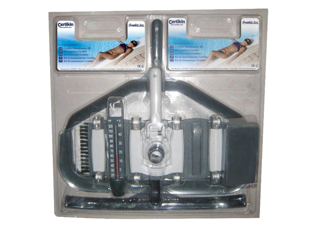 Accessoire piscine kit de nettoyage b ton graphite for Accessoire piscine graphite