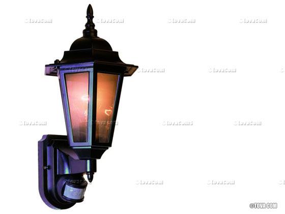 Eclairage de jardin - Applique lanterne rustique avec ...
