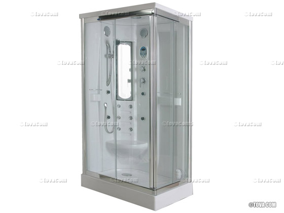 Cabine de douche int grale carr e atlantic pleasure 105 x 85 x 21 - Cabine de douche integrale ...